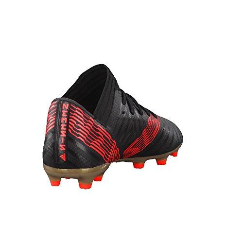 adidas Unisex-Kinder NEMEZIZ 17.3 FG Fußballschuhe Schwarz (Cblack/Cblack/Solred Cblack/Cblack/Solred)