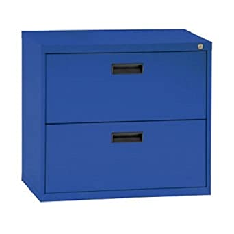 Sandusky Lee E202L A6 400 Series 2 Drawer Lateral File Cabinet, 18u0026quot;  Depth
