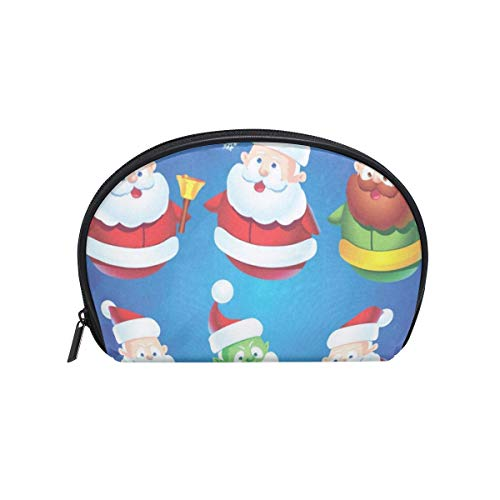 Cosmetic Bag Christmas Snowman On And Snowflakes Girls Makeup Organizer Box Lazy Toiletry Case