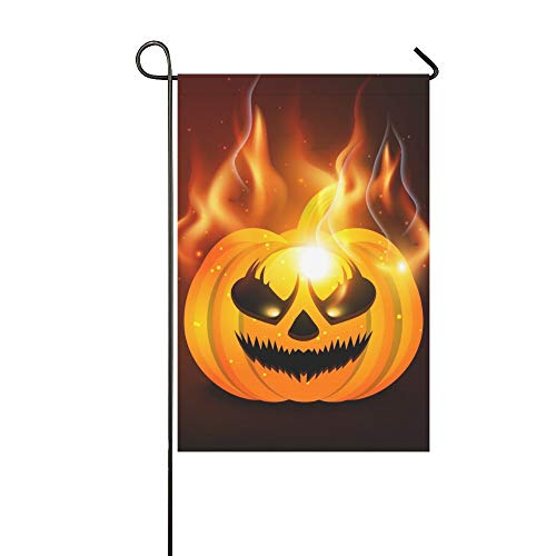Home Decorative Outdoor Double Sided Halloween Party Happy Halloween Message Design Garden Flag,house Yard Flag,garden Yard Decorations,seasonal Welcome Outdoor Flag 12 X 18 Inch Spring Summer Gift]()