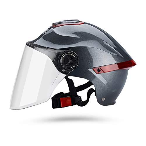 Galatée Erwachsener Motorradhelm mit Visier, Jet-Helm Chopper Cruiser Vintage Pilot Helmet, Bestehen Sie den…