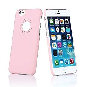 QHY Hollow Out Flower Heart PC Hard Case for iPhone 6 (Assorted Colors) , Rosa