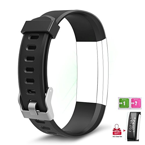 AIEX Fitness Tracker Bands for Wesoo K1/Letufit ID115Plus HR/TwobeFit fitness tracker/BADIQI 115 Plus with Gift Screen Protector (Black)
