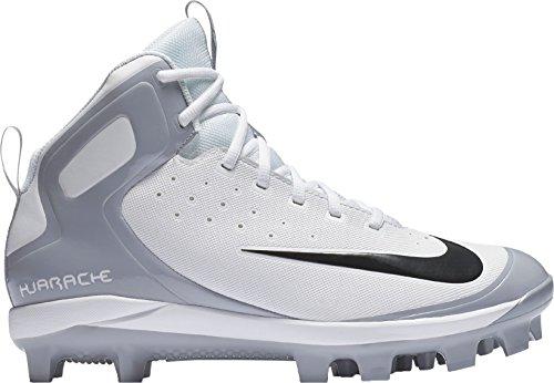 Nike Mens Alpha Huarache Pro Mid Baseball Cleats (wit / Zwart, 10 D (m) Us)