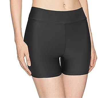 Speerise Womens Nylon Spandex Elastic Waist Stretch Leggings Boy Shorts, Black, XS