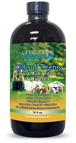 - LifeSource Kid's & Teen's Liquid Multi Vitamins & Minerals