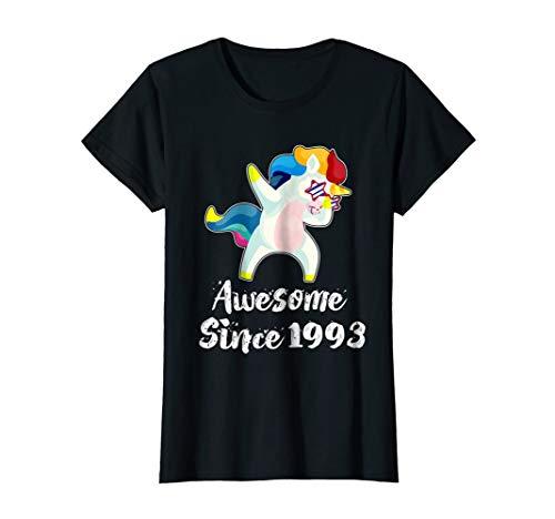 Dabbing Birthday Unicorn shirts Awesome Since 1993 T-shirt ()