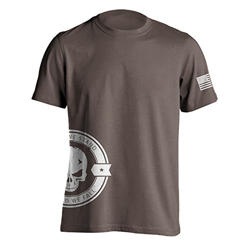 Dion Wear United We Stand Military Sniper Skull T-Shirt X-Large Brown Savana