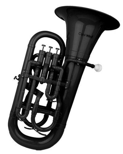 Cool Wind CEU-200 Series 4-Valve Plastic Euphonium Black by Cool Wind