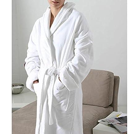 Medium, White Hotel Quality Luxury Soft Velour Cotton Bathrobe
