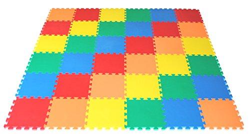 eWonderWorld 36Piece Extra Thick Non-Toxic Kids Toddlers Interlocking Puzzle Foam Play Mat