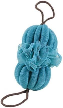 バスタオルロングストリップバスタオル強くこする除染アダルトないためのバック拓本ストリップバース花ヘチマを聞きません (Color : Blue)