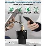 OTISA-Caricabatterie-USB-Caricatore-USB-da-Muro-2-Porte-2-Pezzi-18M-Cavo-USB-C-Compatibile-per-Samsung-Galaxy-S10-S9-S8-PlusHuawei-P30-P20-Mate20Sony-Xperia-XZ