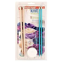 Boye Yarn Knitting for Beginners Kit, 9 Patterns