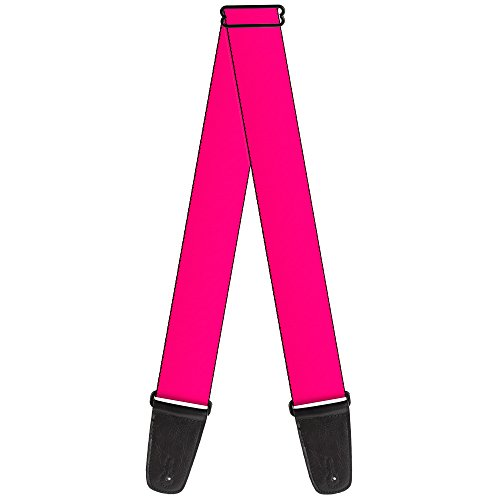 (Buckle-Down 2 Inches Wide Guitar Strap - Neon Pink Print (GS-W31415))