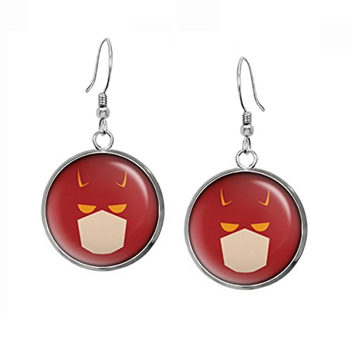 Daredevil Earrings, Dare Devil Necklace, Avengers Jewelry, Punisher Superhero Wedding Party Gift Set, Groomsmen Gifts Geek Geeky Gift ()