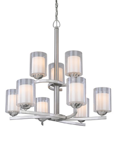 Woodbridge Lighting 12187-STN Cosmo 9-Light Chandelier, Satin Nickel