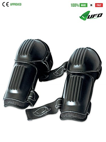 UFO PLAST Made in Italy GO02032 Elbow Guards for Kids / Multisport Elbow Protection Pads / Polyethylene Shells / One Size fits all / For: Snowboard, Skateboard, Ski, Skating by UFO Plast