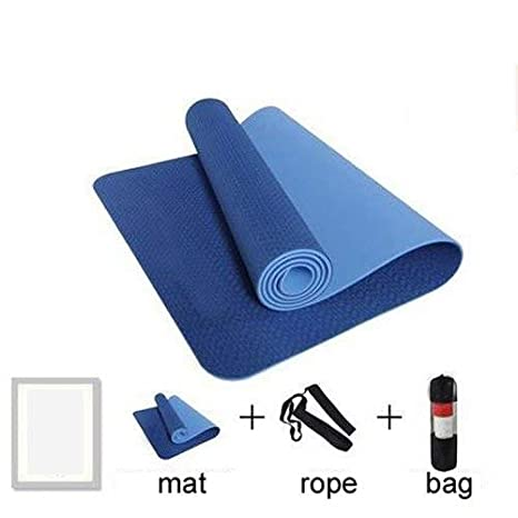 Amazon.com: 183 61cm 6mm TPE Sports Yoga Mat Non-Slim Weight ...