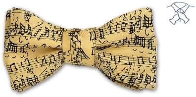 Josh Bach Mens Music by JS Bach Self-Tie Silk Bow Tie Cream, Made in USA