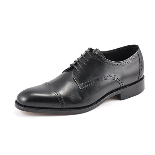 Loake - Zapatos de cordones para hombre negro negro