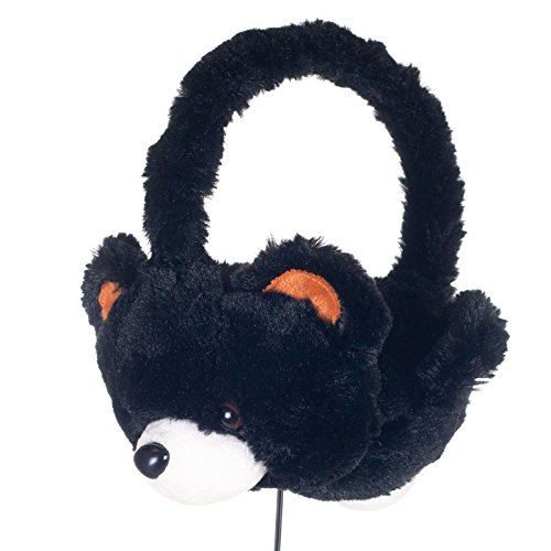 Plush Fuzzy Brown Bear Animal Headphones for Children Ear Phones