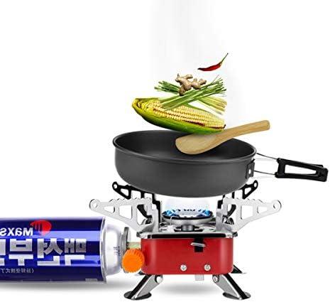 Estufa de Camping Gas Plegable, Quemador Portátil de Cocina Estufa de Horno Dividida a Prueba de Viento con Encendido Piezoeléctrico al Aire Libre ...