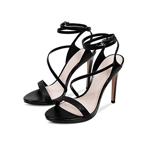 Di Donna Cuoio Guinzaglio Sexy A Spillo 37 E Sono E dimensioni Nero JIANXIN A Sandali Colore Piattaforma Impermeabili Di Da Tacchi Tacchi I gtqOw8X