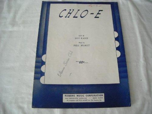 CHLO-E GUS KAHN 1950 SHEET MUSIC SHEET MUSIC 276