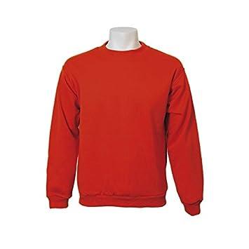Jumar Sport - Sudadera básica, color: rojo, talla: s