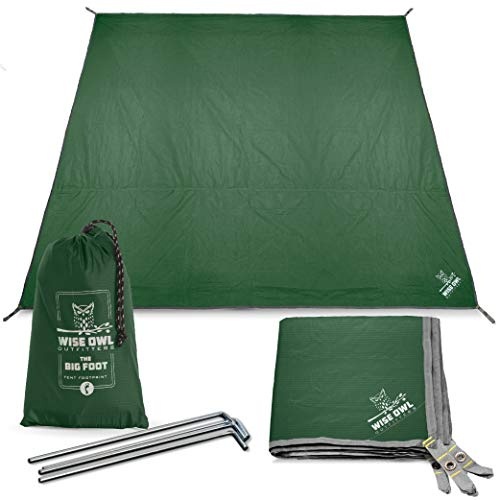 🥇 Wise Owl Outfitters Camping Tarp Waterproof Tent Footprint Lightweight Floor and Ground Tarps for Camping Hiking and Ultralight Backpacking