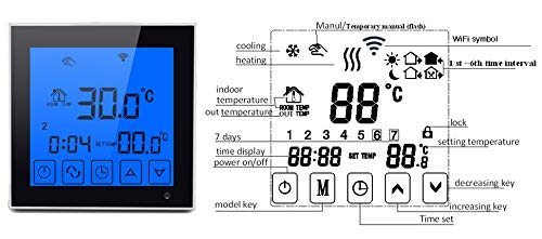 DishyKooker WiFi Large Touch Screen Display Thermostat Programmable Remote Temperature Controller by DishyKooker (Image #5)
