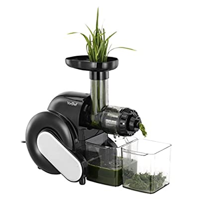 VonShef Wheatgrass Slow Juicer - Create Wheatgrass, Fruit & Vegetable Juices.