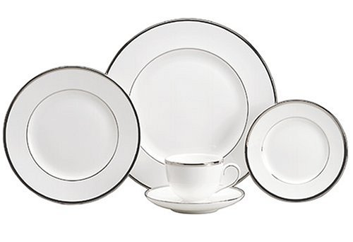 Wedgwood Sterling 5-Piece Dinnerware Place Setting, Service for (Wedgwood Platinum Dinnerware)