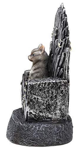 Funny Guy Mugs Cat On A Throne Garden Gnome Statue- Indoor/Outdoor Garden Gnome Sculpture Patio, Yard Lawn by Funny Guy Mugs (Image #3)