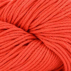 (Tahki Cotton Classic Yarn #3410 Red-Orange)