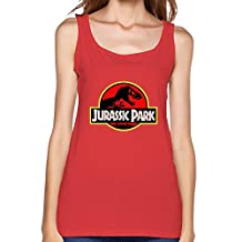 Womind Women's Jurassic Park Tank Tops Gray