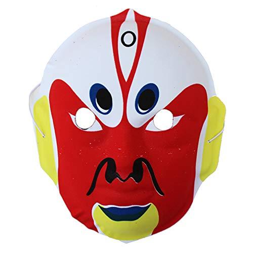 AND Beijing Opera Facebook Mask Decorates Halloween Kindergarten 6 Part of Show Prop Restaurant Tea Room Layout Chinese Wind]()