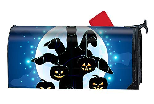 Home Zombies Hand Holding Pumpkins Four Seasons Magnetic Mailbox Cover Magnetic Mailbox Cover 6.5