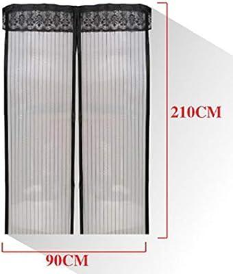 Haioo Mosquitera Magnética de Puerta Corredera Cortina Mosquitera (90 * 210cm, Negro): Amazon.es: Bricolaje y herramientas