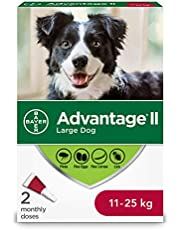 Advantage II Flea Treatment for Large Dogs weighing 11 kg to 25 kg (24 lbs. to 55 lbs.) - 2 pack
