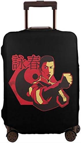 スーツケースカバー キャリーカバー Wing Chun 詠春拳 ラゲッジカバー トランクカバー 伸縮素材 かわいい 洗える トラベルダストカバー 荷物カバー 保護カバー 旅行 おしゃれ S M L XL 傷防止 防塵カバー 1枚