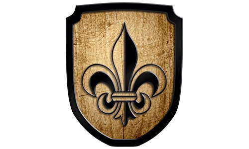 Madera spielerei 33549de N–Escudo Cartel lirio, color natural Holzspielerei 33549-N