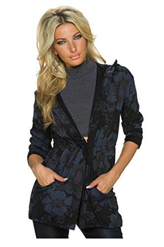 Unique Noir Taille Parka Italy Moda Blouson Femme EqIYOnvXxw