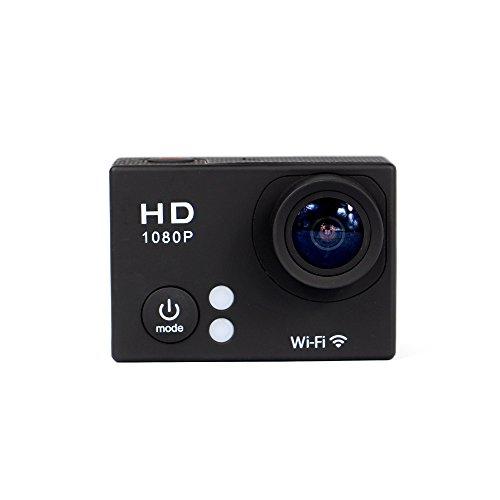 Full HD 1080P WIFI-Sport-Action Kamera mit wasserdichten Gehäuse und Zubehör
