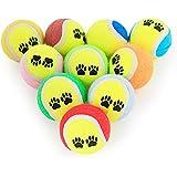 Loveysl Air Dog Squeakair Birthday Balls Dog Toy,Rubber Dog Balls - Tennis Ball Size - Virtually Indestructible (3 Pack)