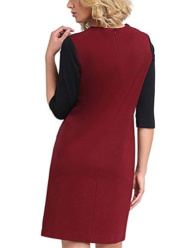 dunkelrot Vestito Marine dunkelrot Fashion APART Multicolore Donna Marine HXBX8w