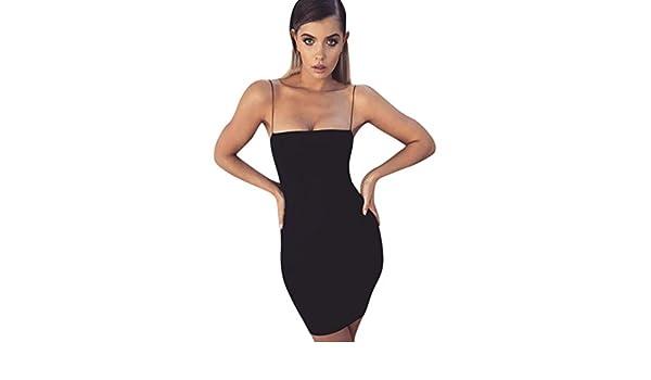 Yesmile 💋💝Vestido de Mujer Vestido Corto Partido Vestido Elegante de Noche para Boda Mini Vestido Sin Mangas de la Cremallera de la Honda de las Mujeres ...