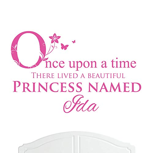 A Beautiful Princess Named Ida Large Once Upon a Time Wall Sticker / Decal Bed Room Art Girl / Baby -