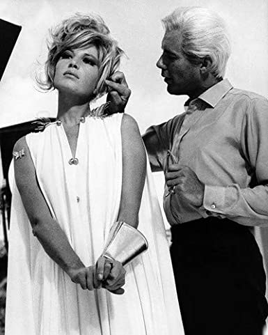 Monica Vitti and Dirk Bogarde in Modesty Blaise 11x14 HD Aluminum Wall Art  at Amazon's Entertainment Collectibles Store